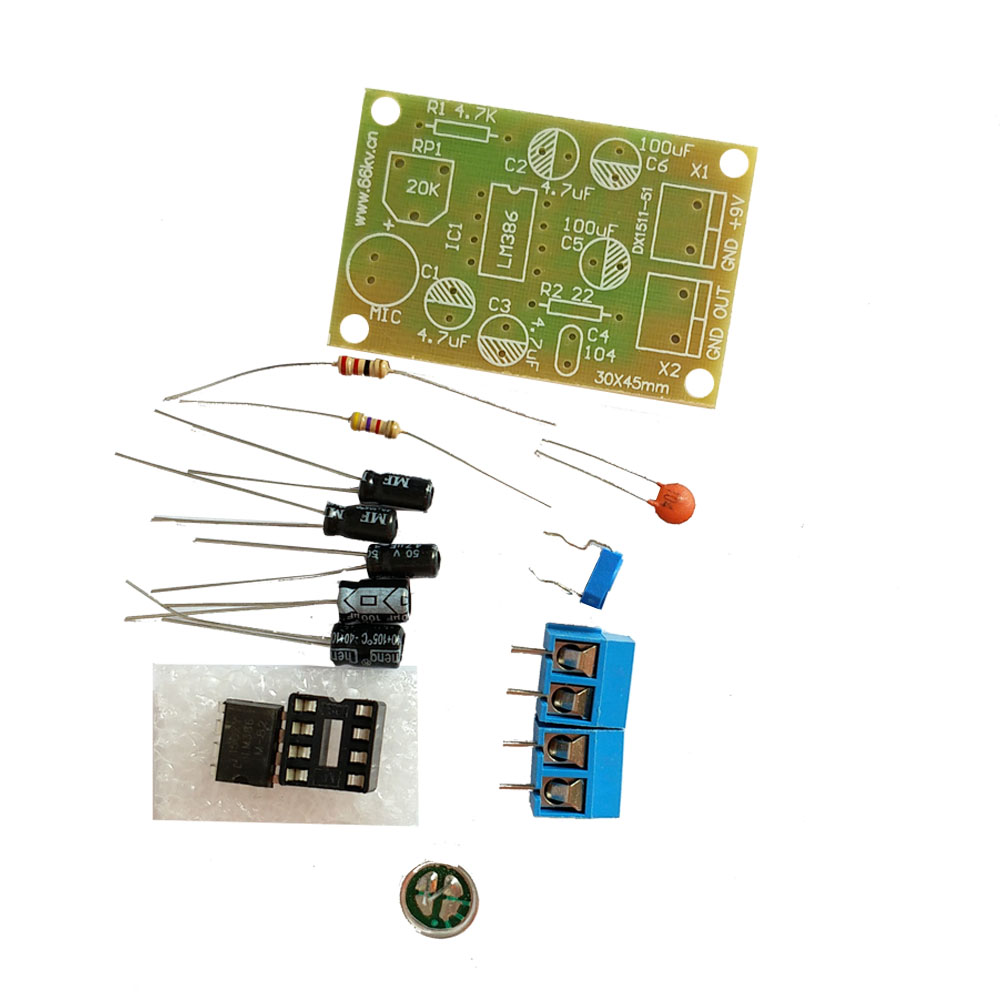 Diy Kit Lm386 Integrated Circuit Voice Audio Power Amplifier The Wireless Reception Headphone Amplifiercircuit Board Parts Electronic Production Suite In Circuits From