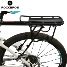 ROCKBROS Bicycle Carrier Bike Luggage Cargo Rear Rack Aluminum Alloy MTB Bike Shelf Cycling Saddle Bags Holder Stand Support