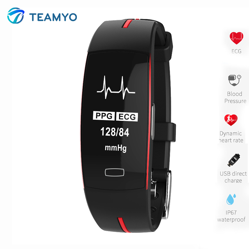 Teamyo Smart Watch Bracelet Blood Pressure Monitor Cardiaco Cicret Bracelet Fitness Band Smart Wristband For IOS