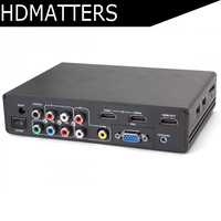Mixed inputs HDMI converter 4K Scaler audio extractor HDMI/VGA/component/AV to HDMI 4K output