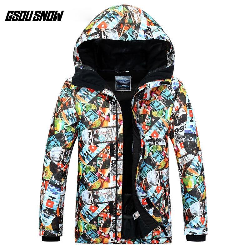 GSOU SNOW combinaison de Ski homme planche unique extérieur coupe-vent imperméable chaud résistant à l'usure respirant veste de Ski pour hommes taille XS-XL