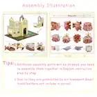 Cutebee DIY House Miniature with Furniture LED Music Dust Cover Model Building Blocks Toys for Children Casa De Boneca - 6