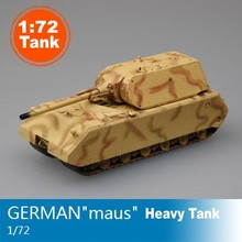 Magic Power Scale Model 1:72 Scale Tank Model German Army MAUS Heavy Tank 36205 Finished Colored Tank Model Collection Tank DIY