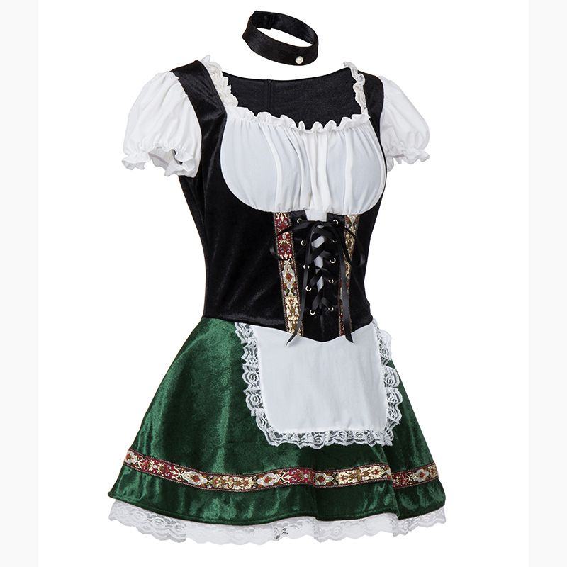 Image 2 - Women Sexy Lace Dress Large Size Halloween Oktoberfest Bar Women Stage Party Dress-in Holidays Costumes from Novelty & Special Use