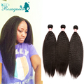 Malaysian Virgin Hair Kinky Straight Human Hair Extensions 3pcs Kinky Straight Hair Weave Bundles Coarse Yaki Hair Extension