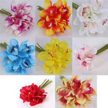 Artificial Flowers Cheap Silk Flower Bouquet Home Decor Wedding Favors DIY Party Decoration
