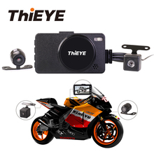 hot deal buy thieye moto one car motorcycle vehicle camera auto dvr motor dash cam 1080p with dual lens portable front rear camcorders