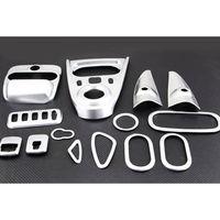 BBQ FUKA 14pcs Car Interior Air Vent Handle Console Gear Shift Reading Light Trim For Mercedes