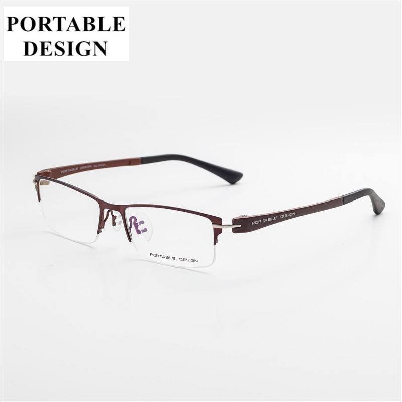 Men Style Titanium Alloy Half Rimless Fashion Eye Glasses2017 New Arrival Men's Eyeglasses Quality Casual Optical Frame for men