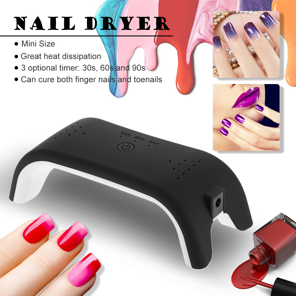 Mini 12 W LED máquina secador de uñas uña del dedo del pie Uñas de ...