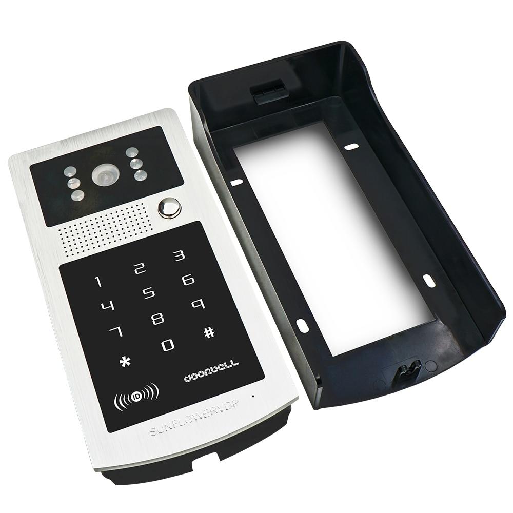 US $216 27 13% OFF Wireless Remote Control Home Video Door Phone Entry  System Rfid Cards Doorbell Outdoor IR Code Keypad Camera +Electric Door  Lock-in