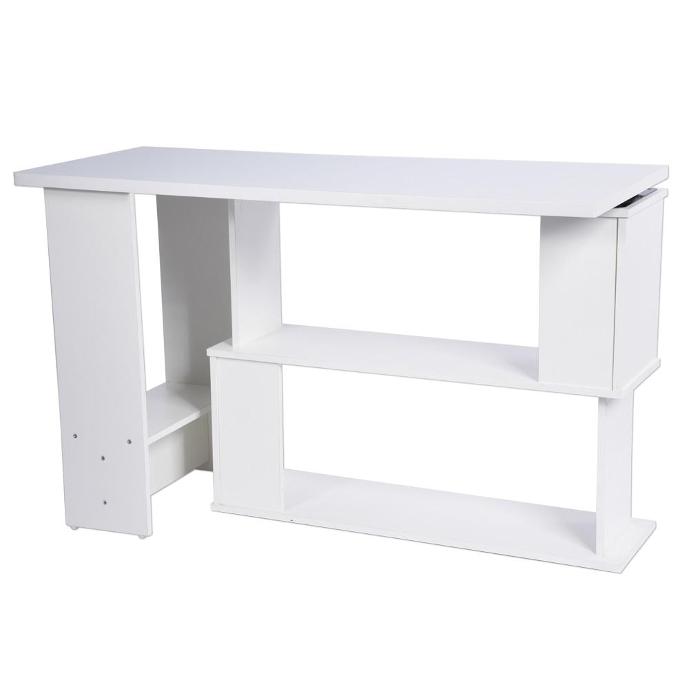 Складной угловой компьютерный стол l-образной формы ПК ноутбук стол идеально подходит для домашнего офиса рабочая станция Дети Обучение письма