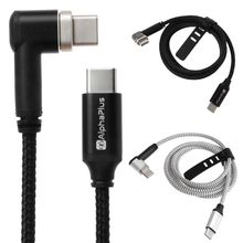 2019 1PC 4.3A 87W Magnetic Type C to Charge Cable for MacBook Samsung S9 S8 Huawei Digital Power Cables 1m