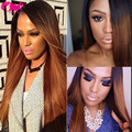 Brazilian Full Lace Wig With Baby Hair Straight Ombre Lace Wig 1b/30 Lace Front Human Hair Wigs For Black Women 130 Density
