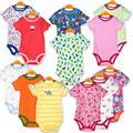 Baby body 5 unidades girls clothing triángulo monos recién nacidos de algodón a rayas de manga corta niños t shirt verano v20