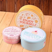 Free Shipping 3pcs Lot New Arrival Cake Ice Cream Design Storage Box Cookie Tin Case Multi