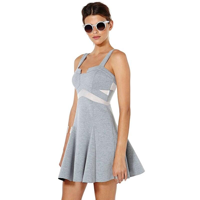 HDY Women's Dress Spaghetti Strap Summer Dress A-line Women Dress Elegant 2018 Ladies Summer Dresses Casual Patchwork 9