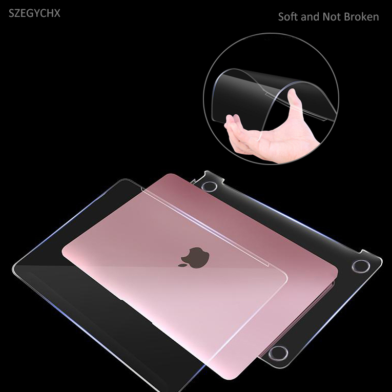 Cristal duro Shell portátil de caso para Macbook Air Pro Retina, 11 12 13 15 13,3 pulgadas Touch Bar para MacBook nuevo 13 A1932 2018