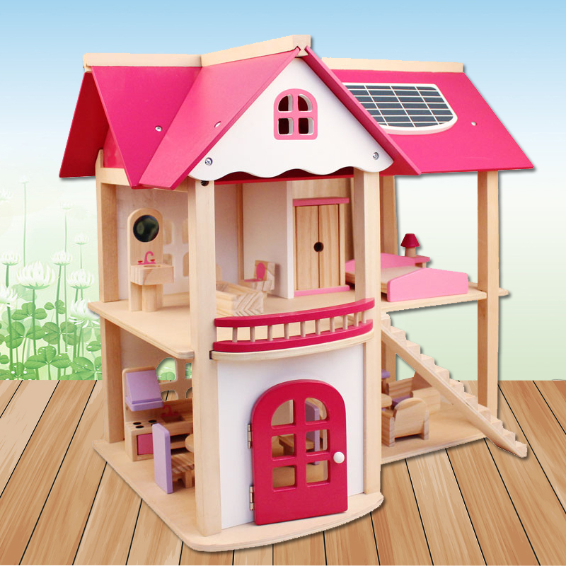 CUTEBEE-Pretend-Play-Furniture-Toys-Wooden-Dollhouse-Furniture-Miniature-Toy-Set-Doll-House-Toys-for-Children-Kids-Toy-5