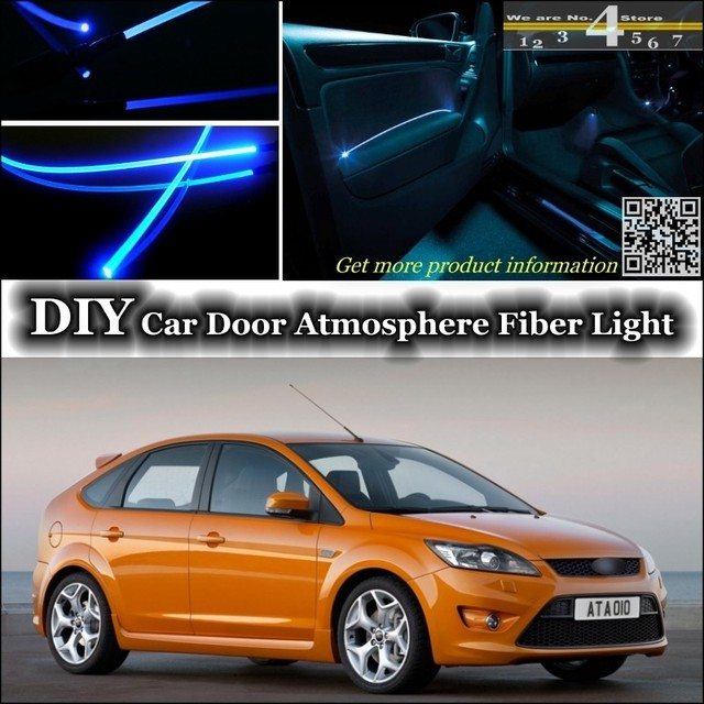 For Ford For Focus / ST Interior Ambient Light Tuning Atmosphere Fiber  Optic Band Lights Door