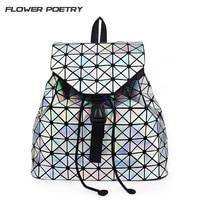 Bao Bao Women Zipper Backpack Pearl Bag Diamond Lattice Geometry Quilted Backpack Sac Bags Ladies Famous
