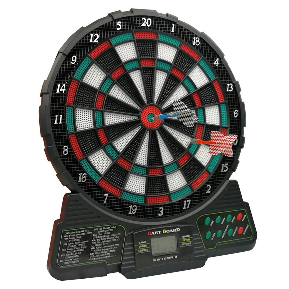 37x31cm notation automatique tableau de fléchettes électroniques affichage LCD Score Dart 18 Types de groupes de jeu 159 Types de Gameplay