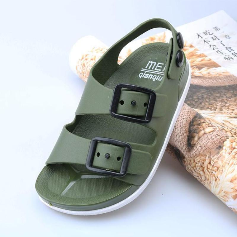 2020summer Boys Leather Sandals For Baby Flat Children Beach Shoes Kids Sports Soft Non-slip Casual Toddler Sandals 1-5 Years