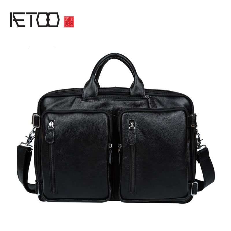 AETOO Europe and the United States fashion leather leather men's handbag shoulder diagonal cross shoulder with a square aetoo europe and the united states fashion new men s leather briefcase casual business mad horse leather handbags shoulder