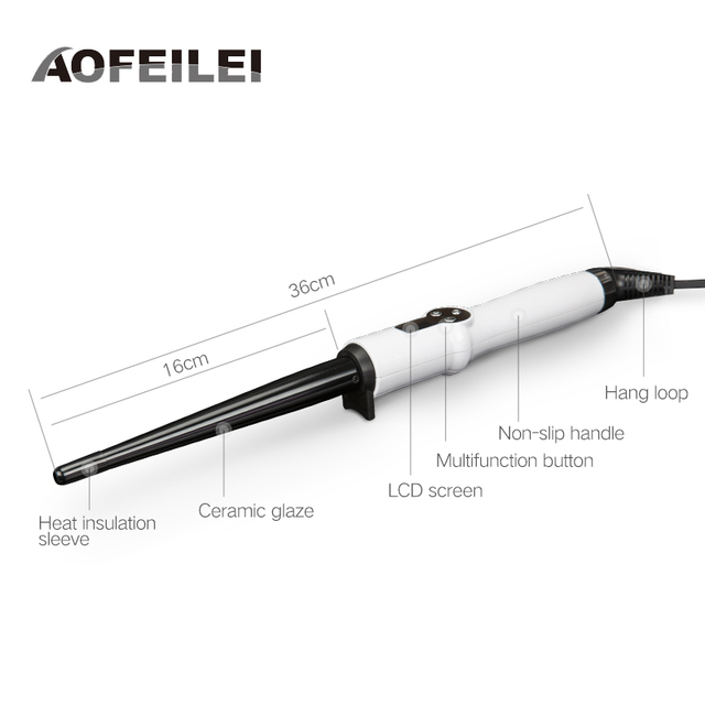 Professional Ceramic Hair Curling Wand electric Temperature Hair Styling Tools Black styler automatic hair Curler volume curl 2