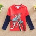 2016 nova impressão de T-shirt do bebê & kids neat crianças dos desenhos animados de longa-camisa de mangas compridas T camisa crianças roupas de bebê menino roupas as crianças usam L868