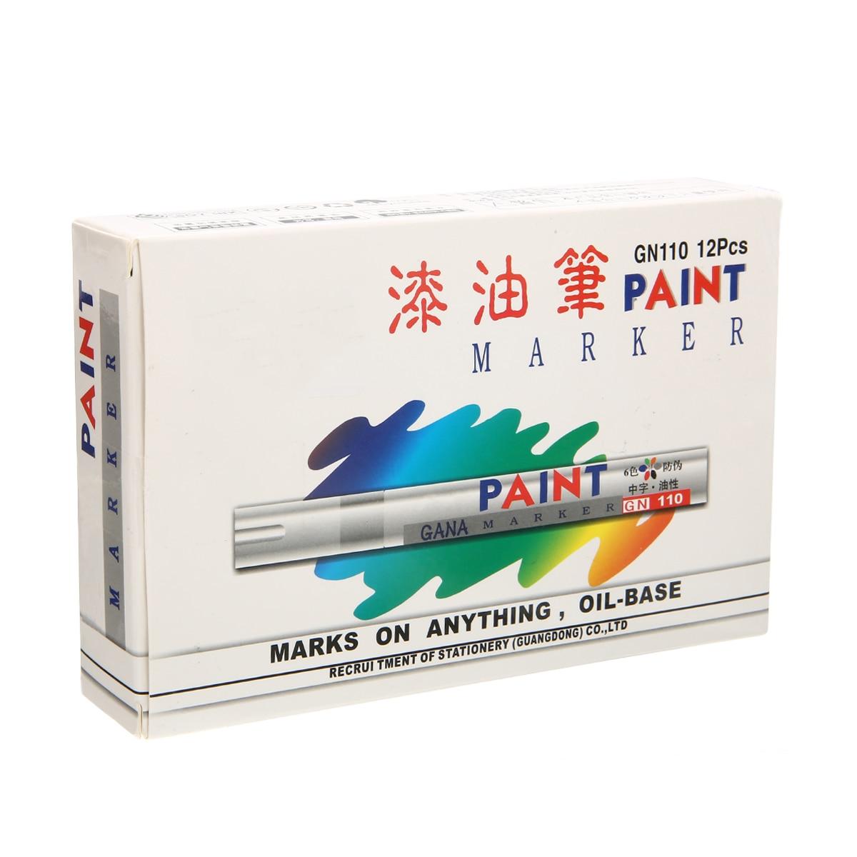 12 Piece Waterproof Car Tyre Tire Tread Permanent Paint Marker Pens White Graffiti Oily Marker Office School Stationery Gifts
