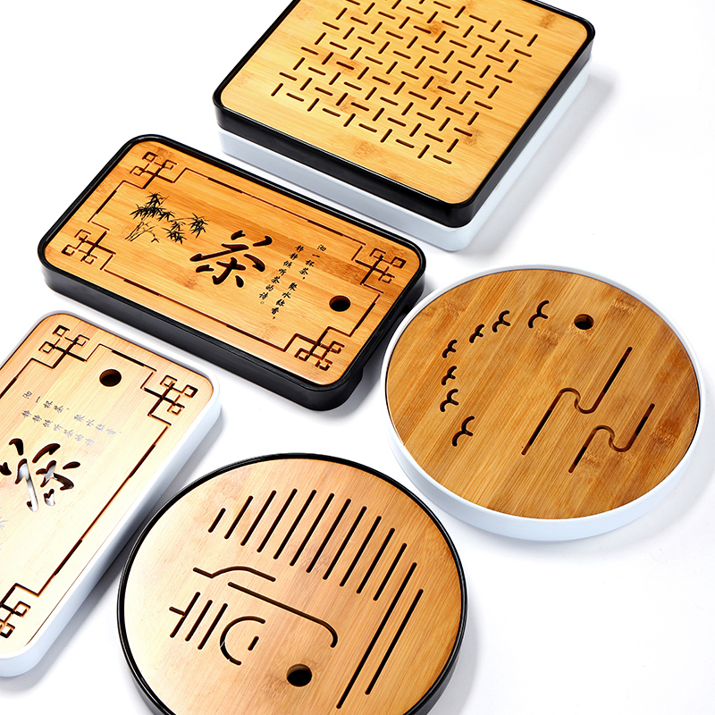 TANGPIN plastiques et bambou plateau à thé plateau bambou à la main table à thé kung fu thé accessoires