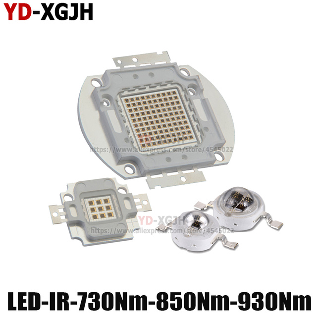 Heißer IR High Power LED Chips 3W 5W 10W 20W 30W 50W 100W 730Nm 850Nm 940Nm für Emitter Diode COB integrierte Matrix Licht Perlen
