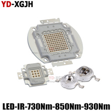 Sıcak IR yüksek güç LED cips 3W 5W 10W 20W 30W 50W 100W 730Nm 850Nm 940Nm için verici diyot COB entegre matris ışık boncuk