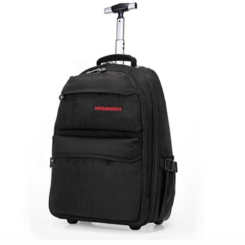 Sigle rod fixe roulettes voyage bagages sacs, 19 21 pouces multi-usage voyage bagages sacs avec roue, noir, violet trolley bagages ensembles
