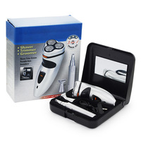 3 In 1 Men Shaver Shaving Razor Rechargerable Electric Razor With Nose Hair Trimmer Face Care