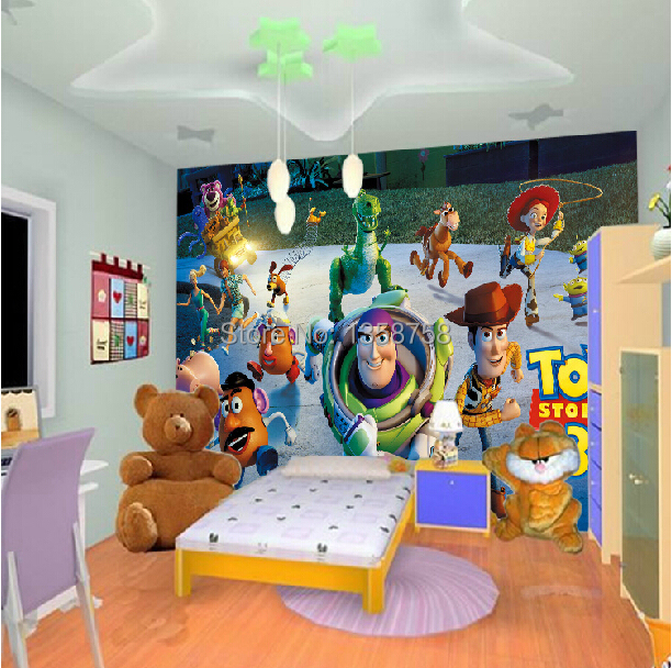 Toys Story 3 Family Portrait Decal Wall Paper Home Decor Anime Background  For Kids Buzz Lightyear Part 92