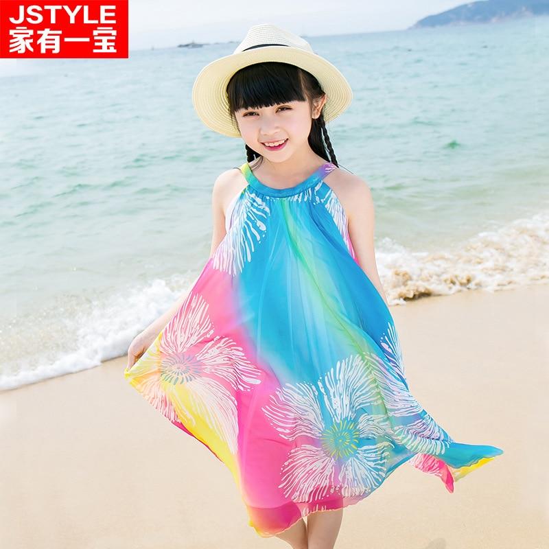 85fcffb10 En stock familia buscar ropa nueva verano playa falda arco iris de seda  bohemio matching mamá bebé madre e hija ropa vestidos en Familia Ropa A  Juego de ...