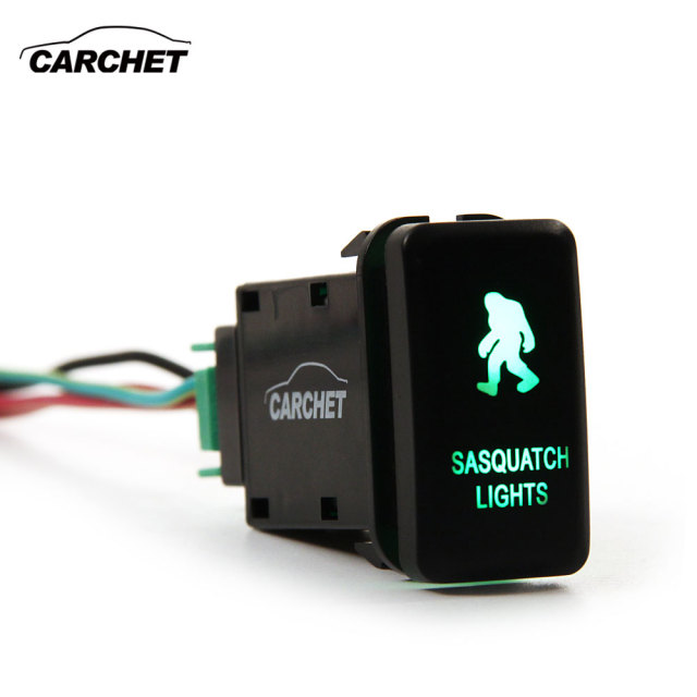 Carchet led push switch with wire connector kit laser sasquatch carchet led push switch with wire connector kit laser sasquatch lights for toyota symbol red cheapraybanclubmaster