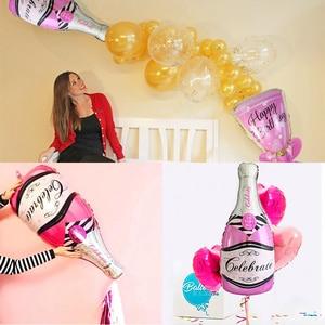 Image 3 - גדול שמפניה יין כוס ויסקי רדיד בלונים שמח מסיבת יום הולדת קישוט למבוגרים חתונה ספקי צד 18 21 25 30 40 50 60