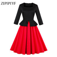 Zipipiyf-Women-Autumn-Winter-Contrast-2017-Vintage-Slim-Work-Office-Business-Party-Knee-Length-Vintage-Wear.jpg_200x200