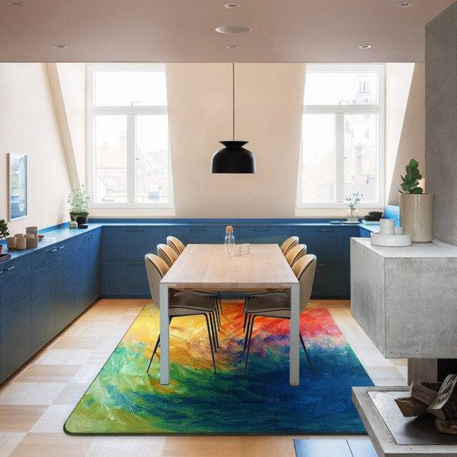 Hot koop nieuwe stijl moderne eenvoudige abstract art carpet sofa ...
