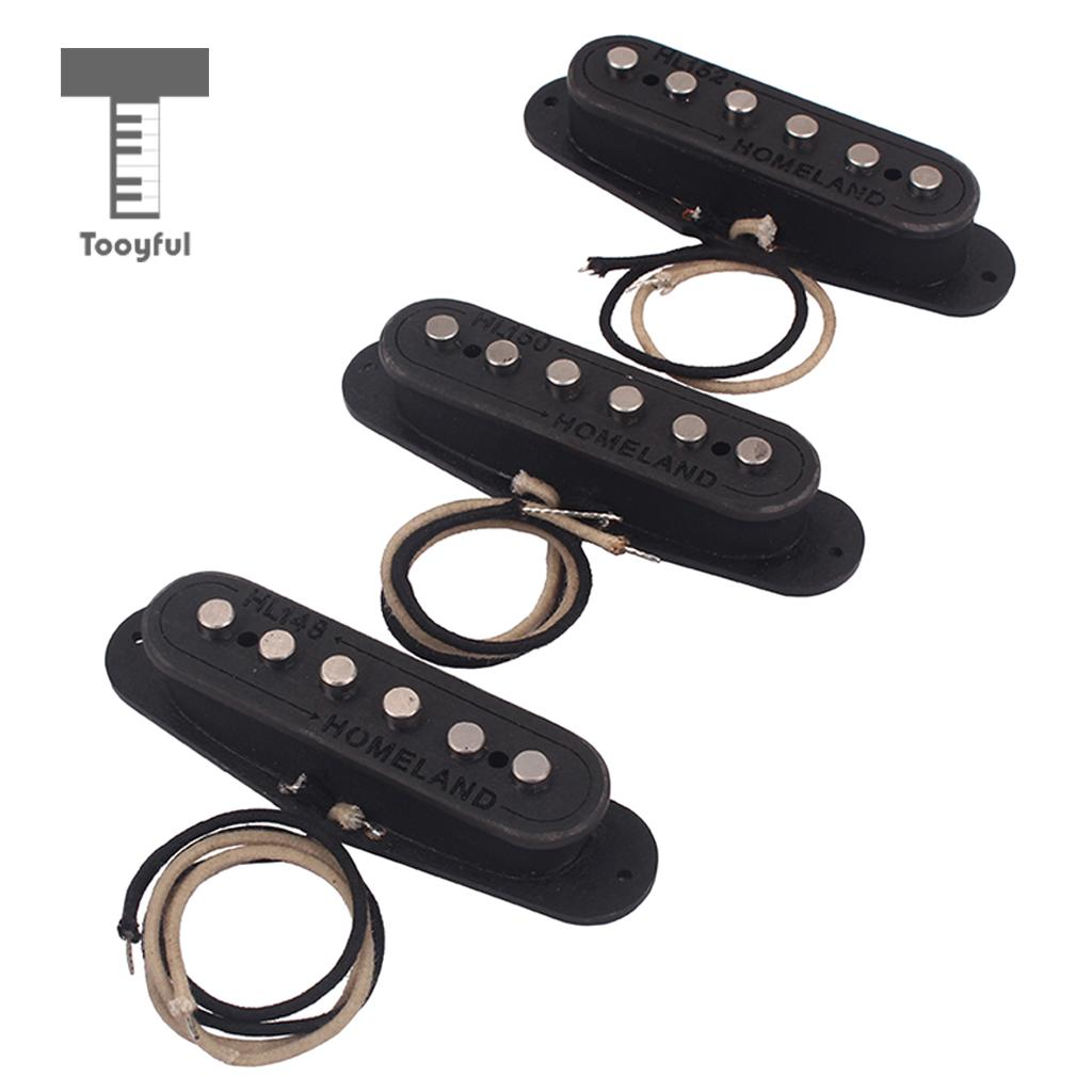 Tooyful 3Pcs SSS Pickup Humbucker Set Fit Fender Strat Stratocaster ST Box Guitar Hand Wound Pickups Guitar Parts Accessory musiclily 4ply sss pickguard for fender standard stratocaster strat st guitar