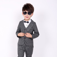 Children suit 2018 fashion children's clothing autumn and winter boys suit performance costume solid color three / piece suit