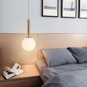 Modern Light Pendant Electroplate Glass Pendant Lamps Living Room Restaurant Kitchen Fixtures Bedroom Bedside Lighting Luminaire