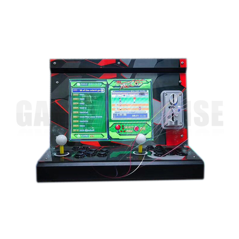 double player Arcade Game Machine with 15 inch LCD 1388 in 1 games board  household Cocktail