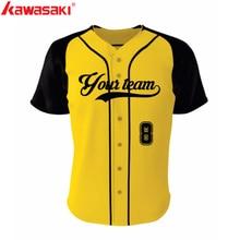 Подлинные Kawasaki брендовые бейсбольные футболки на заказ, мужские и женские фанаты, коллаж, стильные дышащие тренировочные майки для софтбола