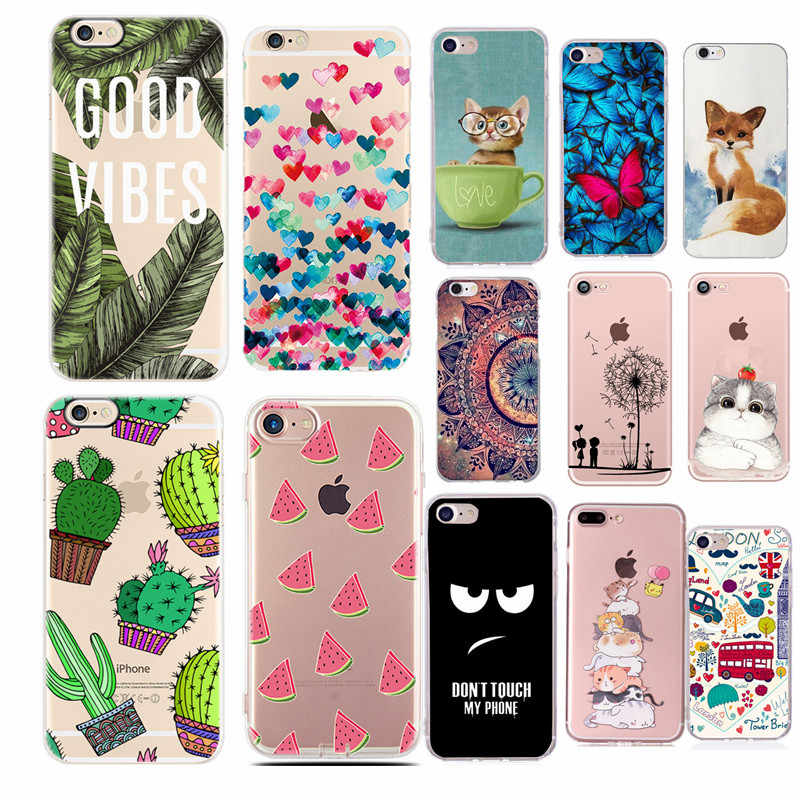 Mobile Phone Soft TPU Cover Case For Iphone 6 6s X XR XS Max 7 8 Plus Thin Soft TPU Back Cases For iPhone 5s 5 SE Cover Conque