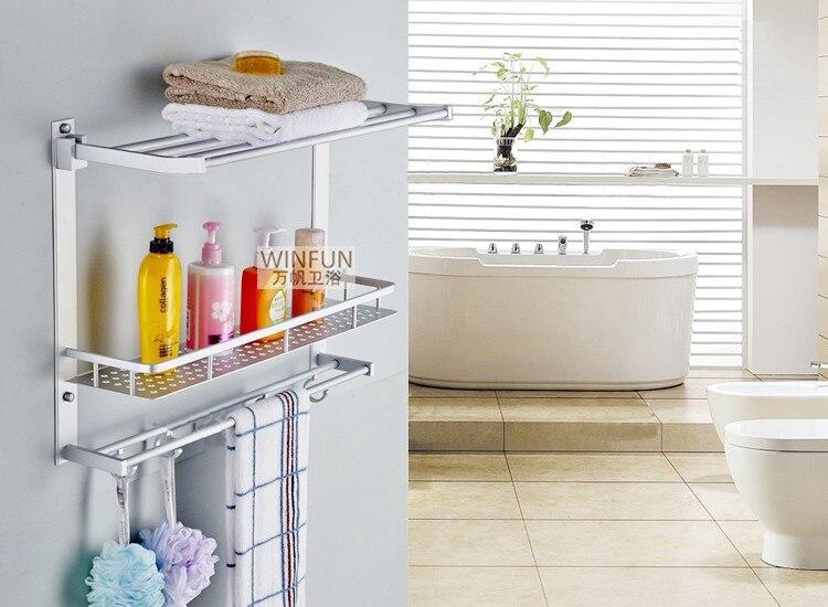 Stanza da bagno scaffale in metallo cromato mobili da bagno doccia