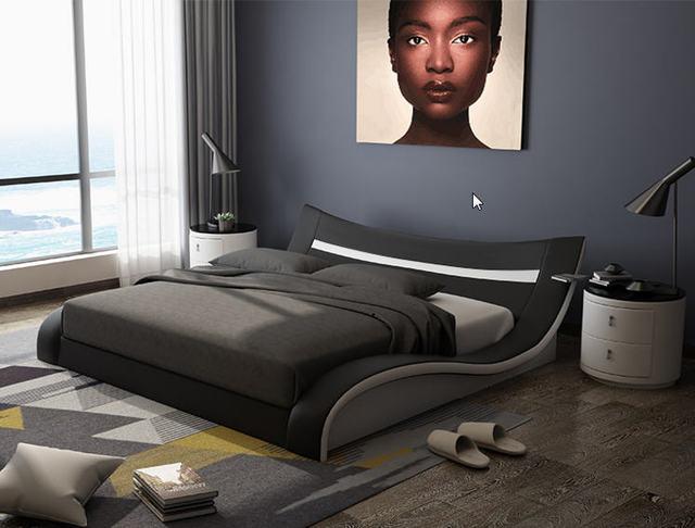 Genuine Leather Bed Frame   3